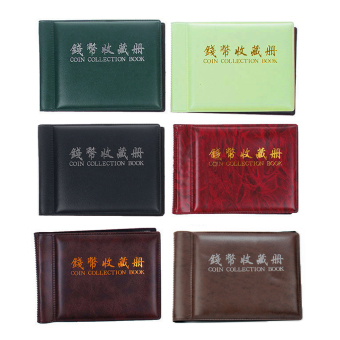 60 Slots Money Penny Pocket Coin Collection Holder Storage Album Book