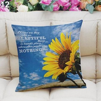 Sanwood Multi-color Sky Ocean Forest Beach Car Sofa Square Pillow Case 12 - intl