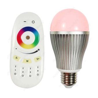 Taff Wireless 2 X RGBW 9W LED Bulb with Remote Controller - OK-2035 - Perak