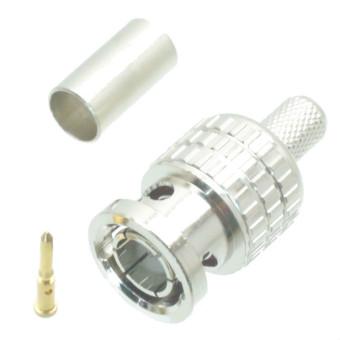 Fliegend 10pcs Connector BNC male plug crimp RG58 RG142 LMR195 RG400 cable 75ohm USA