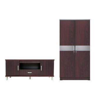 845 WO Source Kirana Furniture Audio Rack Rak TV Meja TV BF 828 DM Dark Mahony