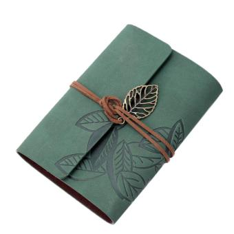 moob PU Leather Cover Loose Leaf Blank Notebook Journal Diary (Green)