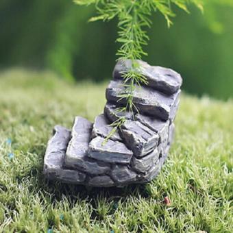 Cute Resin Craft Fairy Garden Steps Miniature Decor Stone Ladder Gnome Gift Gery WAN