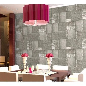 2Cool 3D Wallpaper HD PVC Water-proof Wallpaper Modern Simple Cafe Shop Bar Bedroom Individuality Imitation Leather Luxury Wall Paper Wallpaper 10m - intl