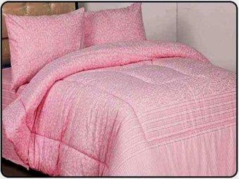 Jaxine Sprei Katun Motif Pasta Pink