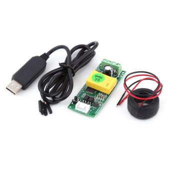 AC 80-260V 100A Electric Monitoring Module Power Voltage Current Tester With CT USB Adapter - intl