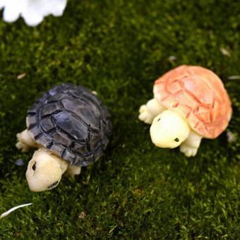 2pcs Miniature Dollhouse Bonsai Fairy Garden Landscape DIY Tortoise Decor Multi - intl