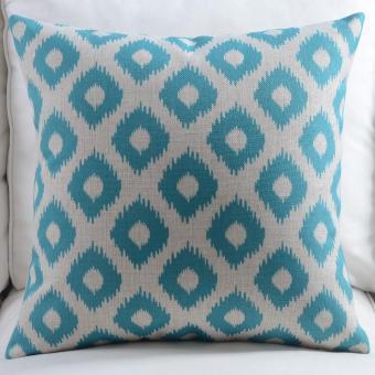 Fresh flowers American cotton linen pillow against ,55x55cm - intl