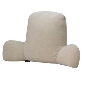 SZYT Reading Pillow Lumbar Support Pillow Bed Rest Cushion Solid Color Khaki - intl