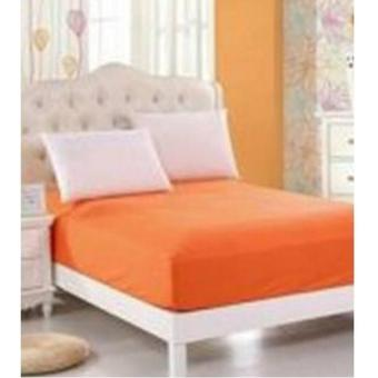 sprei waterproof anti air tinggi 25+set bg-salem orange