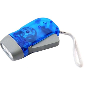 Universal Hand Pressure Self Charging Flashlight - Biru