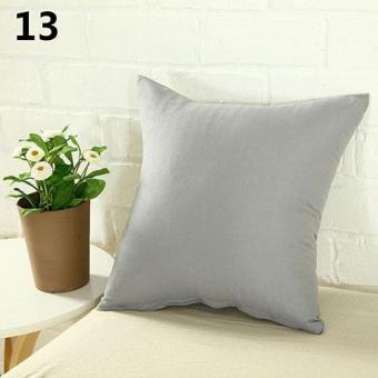 Sanwood Simple Fashion Square Throw Home Decorative Pillow Case Sofa Waist Cushion Cover (Silver Gray) - intl