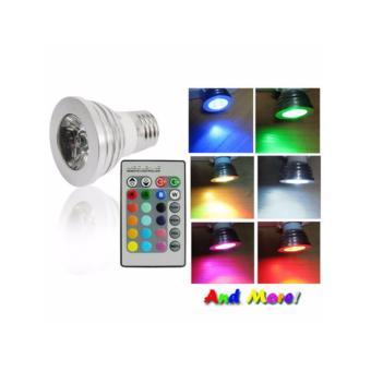 Bohlam LED RGB dengan Remot Kontrol - Silver
