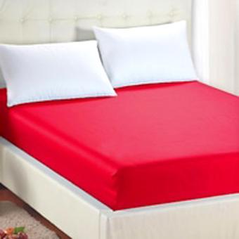Theora Sprei Waterproof 90x200x20cm Warna Merah