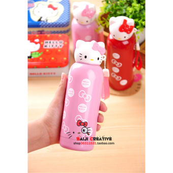 2015 Winter New Kitty Hello Stainless Steel Insulation Cup Lovelycartoon Kt Children's Cup - intl