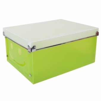 DHS 8155 Cute Smiley Diy Collapsible Storage Box (Green)