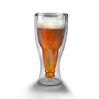 HL Upside Down Beer Glass Double Wall Water Glasses, 350Ml - intl