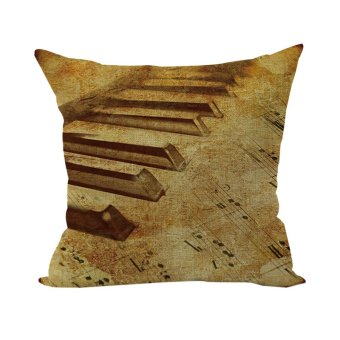 Nostalgic Piano Music Throw Pillow Case Pad Cushion Cover Home Bed Living Room Decor