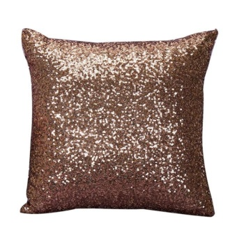 Solid Color Glitter Sequins Throw Pillow Case Cafe Home Decor Cushion Covers - intl