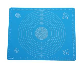 Womdee Non Stick Non-Slip Silicone Pastry Mat with Measurements, 19.7 X 15.7 Inch, Blue