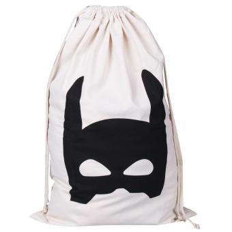 Canvas Home Storage Laundry Drawstring Hanging Bag Batman - intl