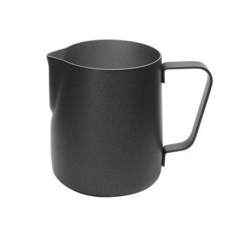 BolehDeals 350 Ml Susu Stainless Steel Tebal Seni Latte Kopi Berbusa Kendi Hitam