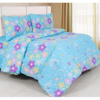 Alona Ellenov Katun Cotton Flower Bed Cover Set Katun – Biru