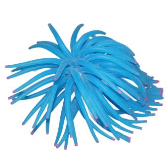 S & F Artificial Silicone Sea Urchin for Aquarium Fish Tank Ornament Blue