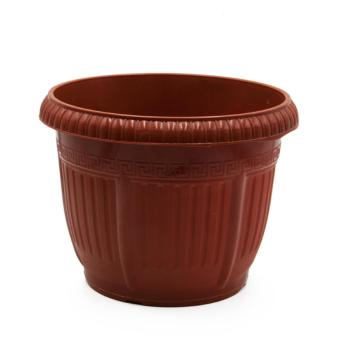 Alldaysmart Pot Bunga Classic 5522 isi 2 pcs Berdimensi 21x21x17 cm - Brown