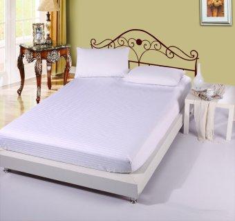 GoGoLife Solid Colour Comforter Sets Home Decorative Bedsheet Bedspreads Fitted Bedsheet-White