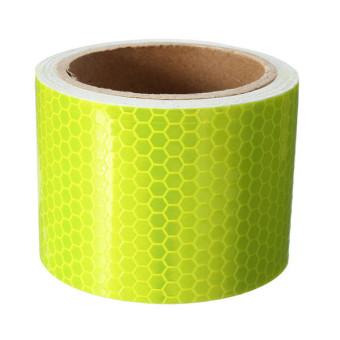 Kuning fluoresensi murni peringatan keselamatan mobil wall sticker reflektif pita gulung 5 cm x 3 m- intl