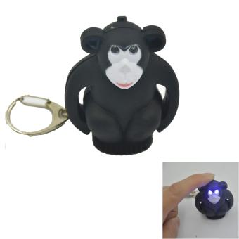 Cute King Kong Shape LED Keychain Keyring W/Light And Sound