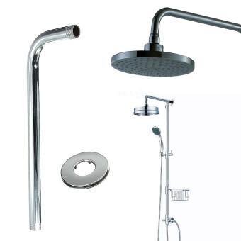 40CM 16 inch Round Curve Chrome Finish Shower Rainfall Head Arm Home Bathroom - intl. >>>>