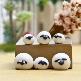 High Quality Store New 3pcs Cute Miniature Sheep Family Garden Fairy Ornament Figurine Plant Pot Bonsai