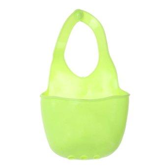 Creative Home Kitchen Bathroom Hang Plastic Container(Green) - intl