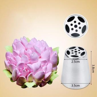 9Pcs/Lot Russian Tulip Icing Piping Nozzles Cake Decoration Decor Tips Tool - intl