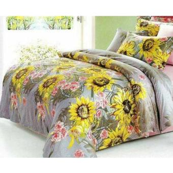 Alona Ellenov Summer Sprei With Bed Cover Katun – Putih