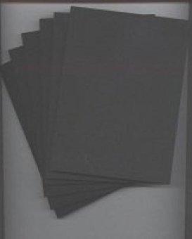 Pack of 20 13cm x 18cm Black Foam Core Backings - intl
