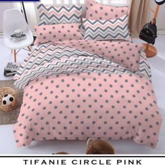 jaxine sprei katun motif tifanie circle pink