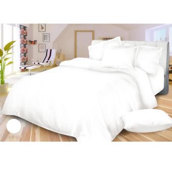 Alona Ellenov Jepang White Bed Cover Set Katun Jepang Super 180 x 200