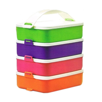 Tupperware Click To Go 900ml - 4pcs - Warna Warni