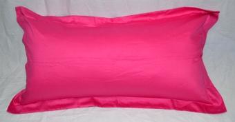 Ellenov Sarung Bantal Cinta Satin Jepang Polos Pink Fanta - pink
