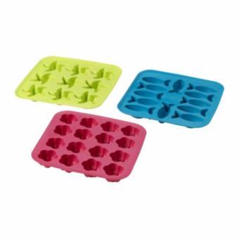 Ikea Plastis Ice Cube Tray Cetakan Es Bentuk Bunga - Pink