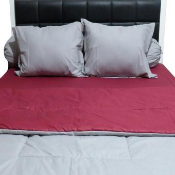 Sleep Buddy Set Sprei dan Bed Cover Plain Foxy CVC