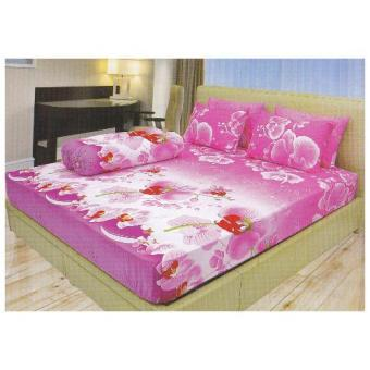 Lady Rose Disperse Orchid Sprei Set 180x200x20