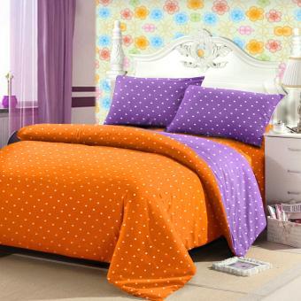 Jaxine Sprei Tinggi 25cm Motif Polkadot Warna Oranye Lilac