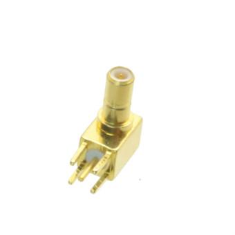 Fliegend 10pcs Connector SSMB male plug solder PCB mount Right angle