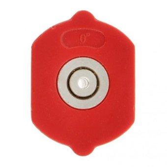 BolehDeals 0 Degree 2mm Hole High Pressure Car Washing Sprayer Nozzle Head Red - intl