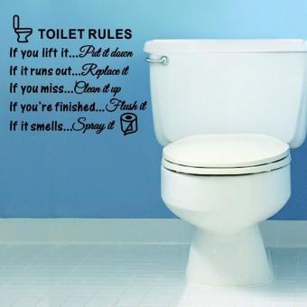 ... Mengutip Tulisan Wall Sticker Hitam Source · Harga Aturan Toilet yang dapat dilepas stiker dinding kamar mandi Toilet seni stiker vinil dekorasi rumah