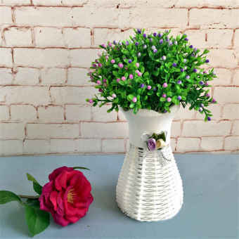 Artificial Rattan Square Flower Vase Roses/Fruits/Candy Storage Basket Garden Wedding Party Decoration Gift Wholesale - intl